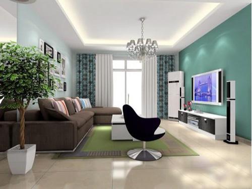 客厅123简约实木沙发摆放图